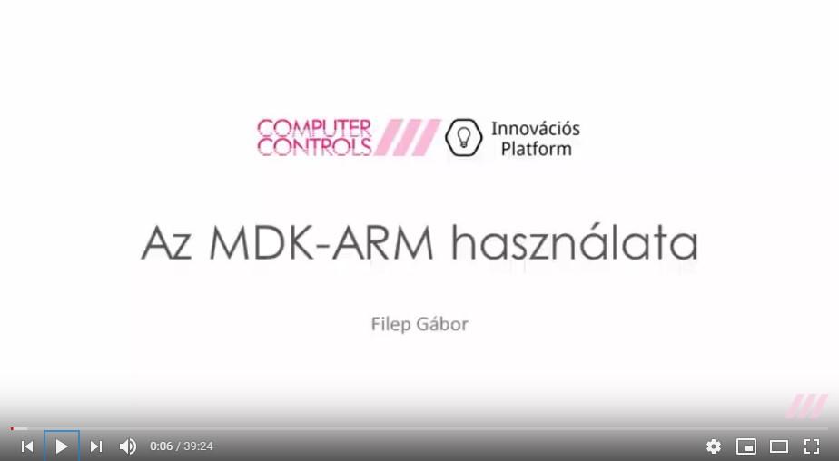 Az MDK-ARM használata - első lépések